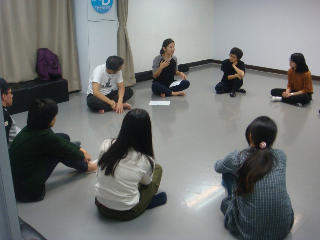 曾靖雯擔任導師主持「『對話式教育』教師戲劇工作坊」